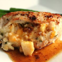 Apple and Cheese Stuffed Chicken Breasts