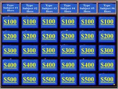 This site has my favorite PowerPoint review game templates.  One of the things that makes them great is that they come with sound files!  The cash cab one is unique, but the Jeopardy! and Who Wants to be a Millionaire are really, really well designed.