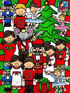 Nutcracker Clipart Bundle from tongassteacher on TeachersNotebook.com -  (24 pages)  - The bundle includes the Nutcracker (3 different colors), Mouse King, Prince, pajama girl, ballerinas, Christmas tree and present!