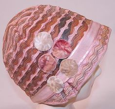 Vintage 1920s Gatsby Art Deco Pink Woven Horse Hair Ribbon Flapper Cloche Hat | eBay