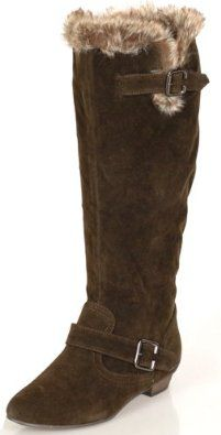 Womens Riding Knee-High Brown Sporty Classy BOOTS
