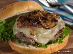 Fiery Onion Cheeseburgers #Dinner #Recipe