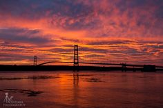 Yesterday's Sunrise over the Deer Isle - Sedgwick Bridge. #Maine is beautiful! Photo by A G Evans Photography