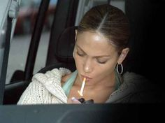 j-lo smoking cigarette