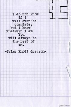 Typewriter Series #616byTyler Knott Gregson