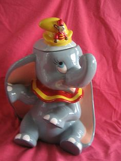 New Dumbo w Timothy The Mouse Cookie Jar by Treasure Craft New N Box