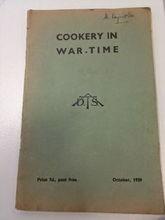FREE downloadable cook book - Cookery in Wartime