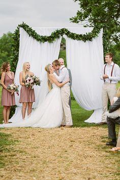 ceremony greenery garland | Kati Mallory #wedding