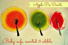 fall apples homemade paints
