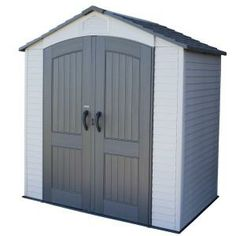 Not bad for the size and price: 7 ft. x 4.5 ft. Storage Shed-60057 at The Home Depot 184 cubic feet for $650. probably the best deal around. 10 year guarantee - matches our other shed.
