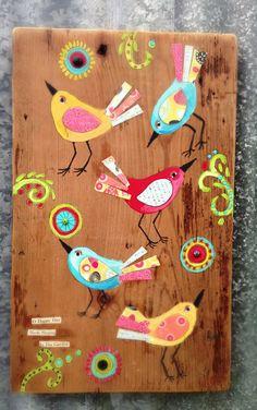 Folk Art Birds by evesjulia12