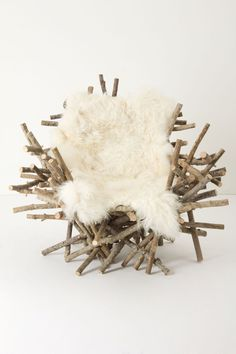 Branches & Fur Chair. - Anthropologie.com