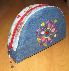 """""""Rot"""" #taschenspieler patchwork, jean, estuch, bag, boss, denim, bolso, accessoir, buntwies"""
