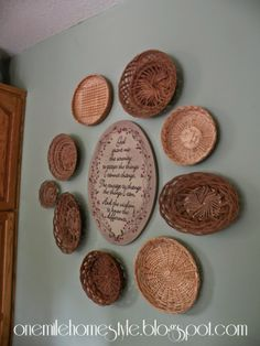 Thrifted basket wall art
