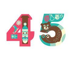 Typeverything.com - Iglika Kodjakova: Illustrative Numbers (via design work life)