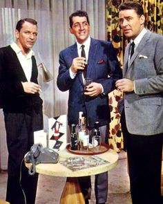Frank Sinatra, Dean Martin, and Peter Lawford