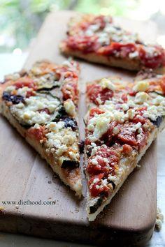 Zucchini Goat Cheese Pizza