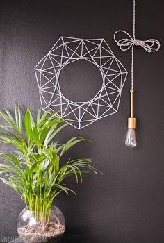 DIY: geometric wreath