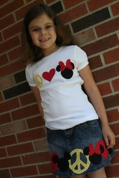 mice, disney outfits, inspiration, colors, peace signs, minnie mouse, disney trip, kids, shirt