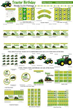 Instant Download Tractor Birthday Party by KellysCottageShoppe, $9.50