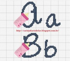 Schemi punto croce ricamo Angelo: Alfabeto