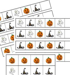 File Folder Game - Halloween Patterns - Preschool Kindergarten First Grade