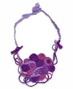 "$24.99 JousJous Purple Handmade Felt Rose Garden Necklace, 21"" Long JousJous, #necklance #gifts"