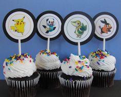 Pokemon Party, Pokemon Cupcake Toppers, Pokemon, Cupcake Toppers