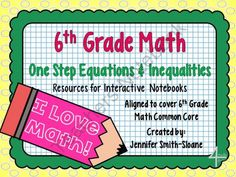 6th Grade Interactive Notebook Bundle- Equations & Inequalities from 4mulaFun on TeachersNotebook.com -  (92 pages)  - 6th Grade Interactive Notebook Bundle- Equations & Inequalities