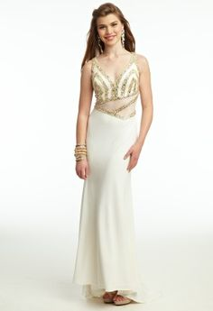 Jersey Illusion Bead Prom Dress from Camille La Vie and Group USA
