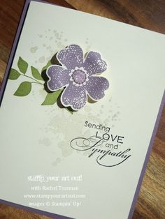 Simple and Elegant card using Flower Shop and Gorgeous Grunge stamp sets… Stampin' Up!® - Stamp Your Art Out! www.stampyourartout.com