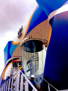 August 24 2014 - Richard Fain in the Quantum of the Seas' SeaPlex. Photo tweeted by ‏@RoyalCaribPR