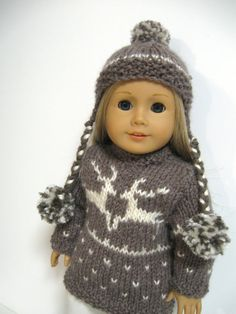 American Girl Doll Clothes Double Reindeer by 123MULBERRYSTREET, $30.00