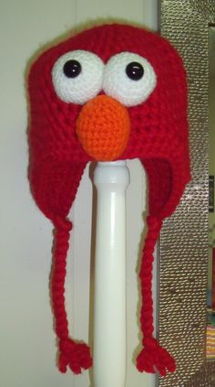 Elmo, crochet hat, kids crochet