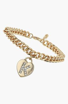 A monogrammed bracel