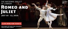 The National Ballet of Canada - To celebrate The National Ballet of Canada's 60th anniversary in 2011, Artistic Director Karen Kain commissioned internationally celebrated choreographer Alexei Ratmansky to create a new production of Romeo and Juliet.  Rapturously received at its pr