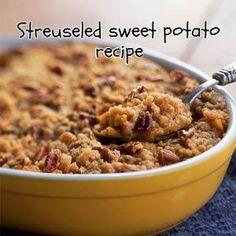Streuseled Sweet Potato Casserole Recipe