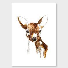Geometric Deer Art Print by Makus Art NZ Art Prints, Design Prints, Posters & NZ Design Gifts   endemicworld
