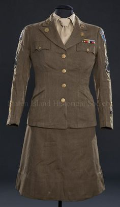 1943-1946 Woman's military uniform, Women's Army Air Force.