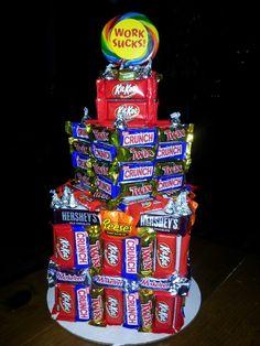 """Candy bar """"cake"""" I made"""