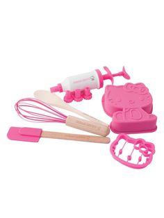 Hello Kitty Baking Starter Set (6 pcs) bake starter, hello kitti, starter set, bake set, baking, hellokitti, hello kitty, kid, kitti bake