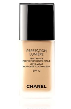 CHANEL PERFECTION LUMIÈRE LONG-WEAR FLAWLESS FLUID MAKEUP SPF 10 available at #Nordstrom