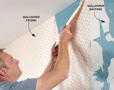 """DIY Step-By-Step Best Way to Remove Wallpaper:  """"Removing wallpaper before painting is a tough job, but it doesn't have to be terrible. Learn how to make it go quicker and easier—and how to make sure you end up with walls that are smooth and clean."""""""