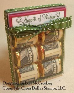 """Awesome gift idea! This gift is for a graduate, the tag says """"Nuggets of Wisdom"""". You could do so many fun things with this idea!"""