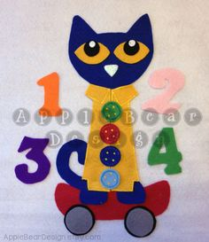 Felt Board Story Set Pete the Cat and His Four Groovy Buttons