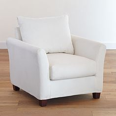 Ivory Luxe Chair Slipcover Collection   World Market