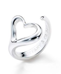 Tiffany & Co Outlet Elsa Peretti Open Heart Ring $46.00 Damn that's cheap