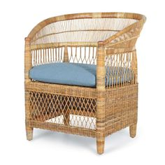 The Malawi chair by Ross Cassidy in the Jeffrey Alan Marks Collection for Palecek   A re-edition of the classic Malawian wicker chair.