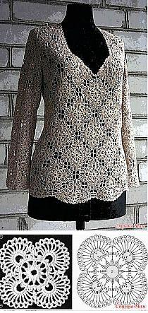 Crochet motifs top..
