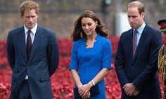 Los Duques de Cambridge y el Príncipe Harry de Inglaterra lideran un emotivo homenaje a los caídos de la Primera Guerra Mundial